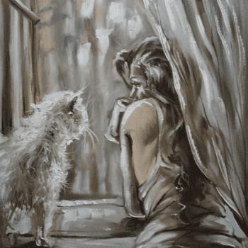 Девушка с котом пример