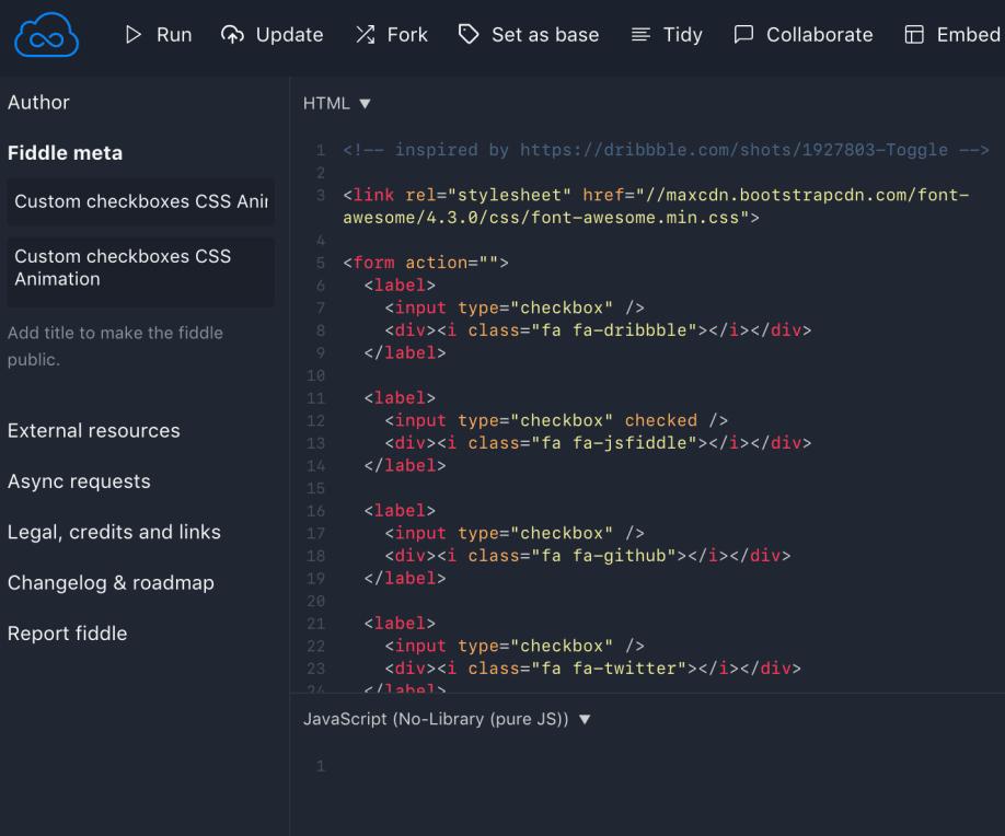 Инструменты HTML и Javascript